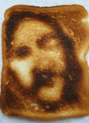 Jesus face on toast