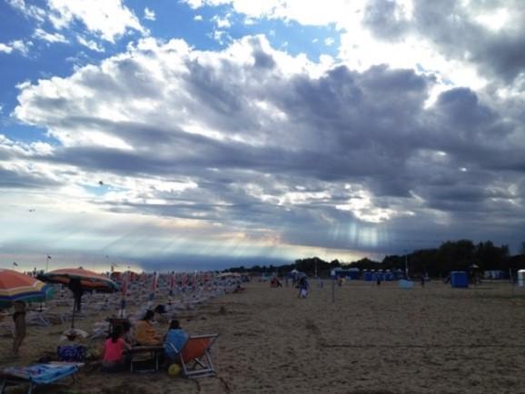 Plaja din Bibione, Italia 2014