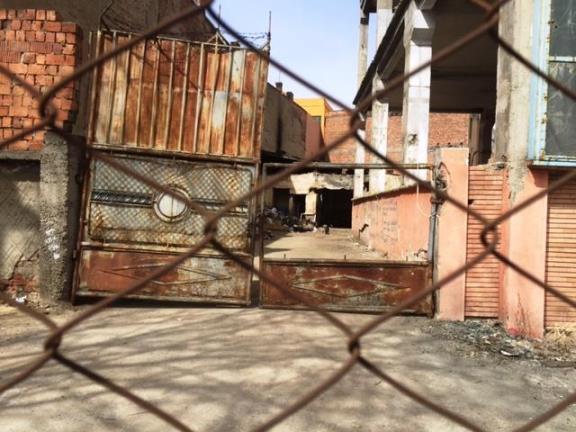 peisaj industrial de film de groaza